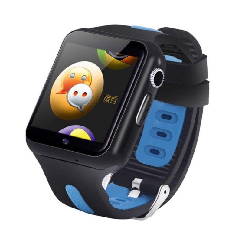 Imperméable à l'eau 3G Wifi montre intelligente GPS sûr Sport Fitness Tracker téléchargeable APP multi-langue en option enfants montre intelligente