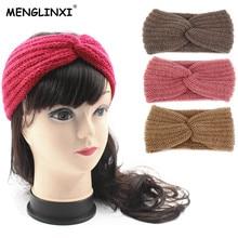 2019 New Winter Warmer Ear Knitted Headband For Women Girls European Solid Woolen Headwear Turban Hair Band Head Wrap Lady