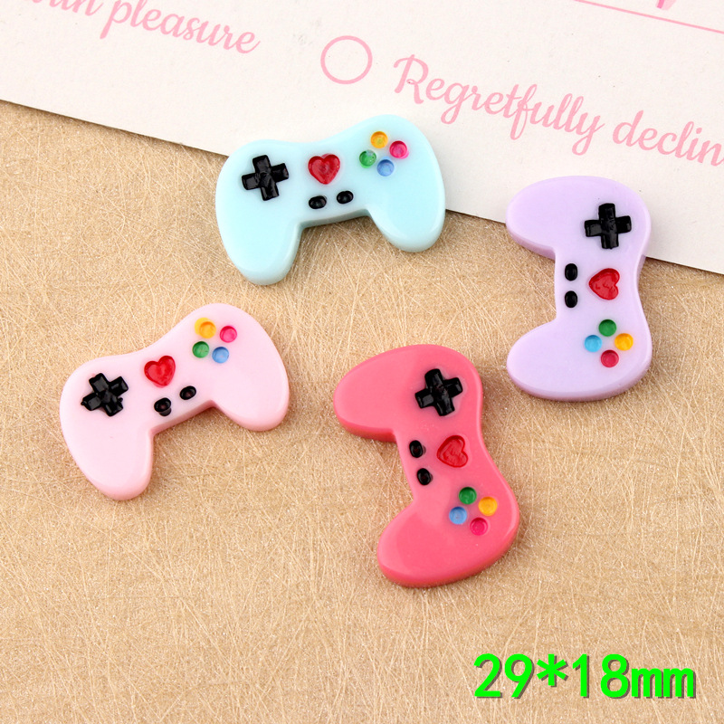 10Pcs Kawaii Game Controller Flat Back Resin Cabochons Craft For Cellphone Case Decoration DIY Accessories Embellishments