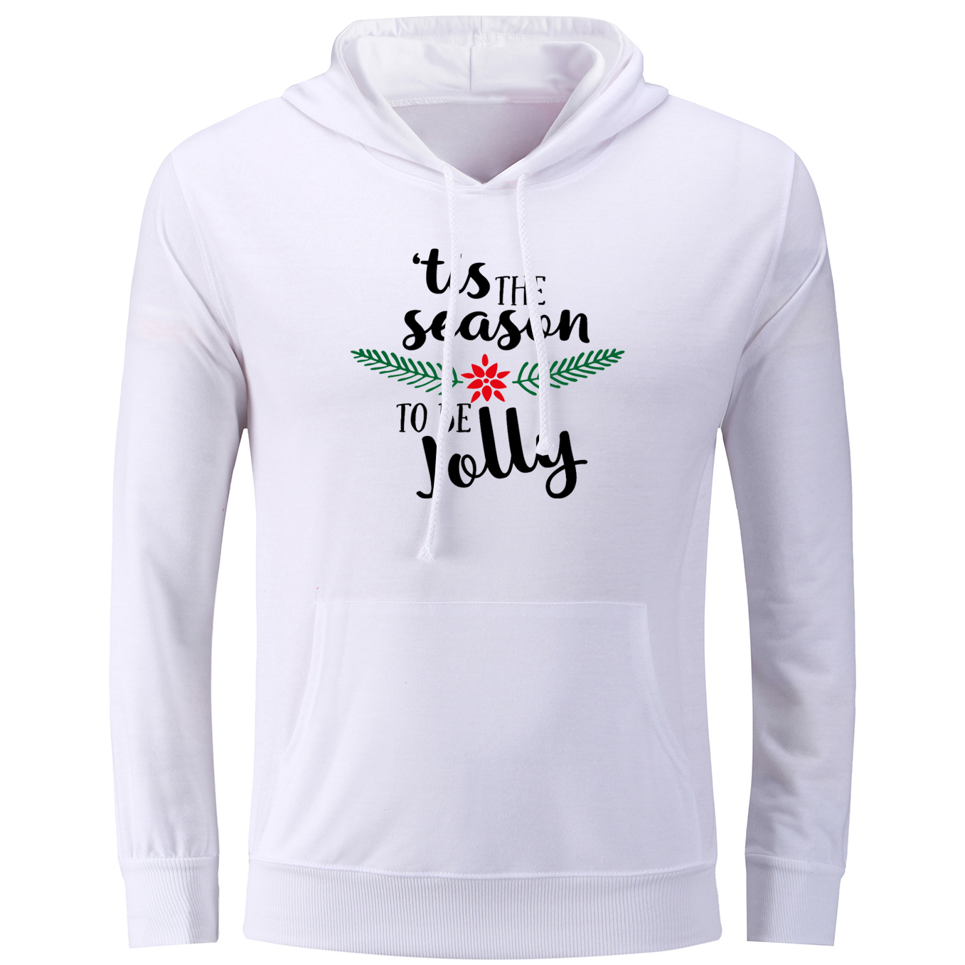 New Arrival Tis the season to be Jolly Print Hoodies Men Boy Casual Cotton  Sweatshirts for Women Girl Multi Color Unisex Jackets-in Hoodies    Sweatshirts ... ce944287126f