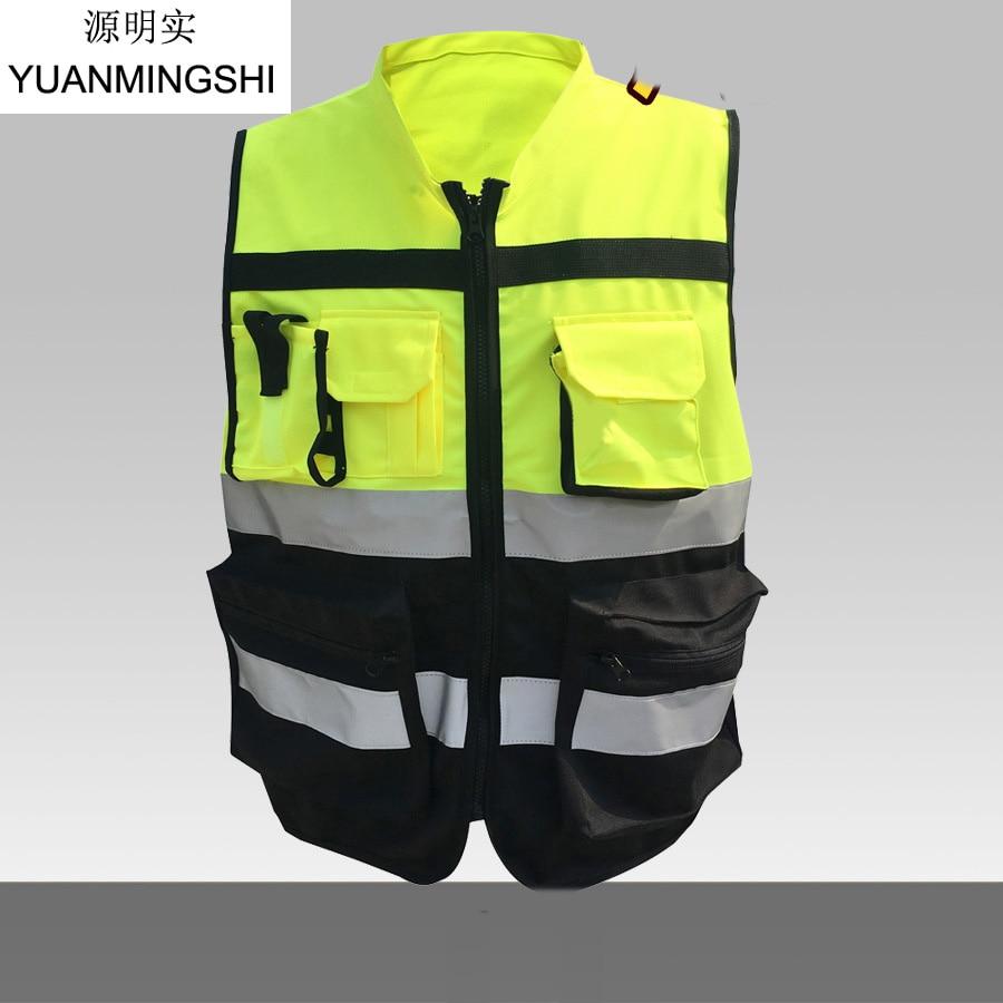 YUANMINGSHI Cycling Motorcycle Motorbike Racing High Visible Reflective Cloth Vest+Reflective Safety Clothing