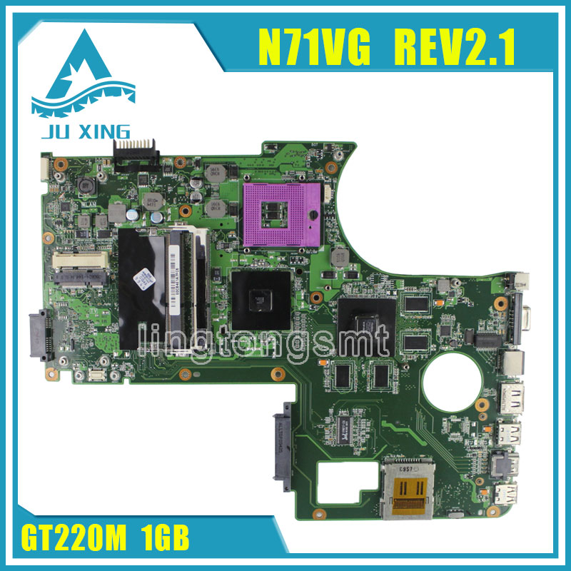 original motherboard For ASUS  n71V N71VG motherboard N71VG mainboard rev2.1 GT220M 1GB 100% fully tested