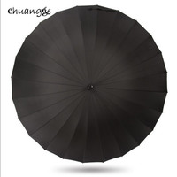 CHUANGGE 24 Bones Umbrella Men S Women Male Sense Of Security Golf Big Umbrella Long Handle