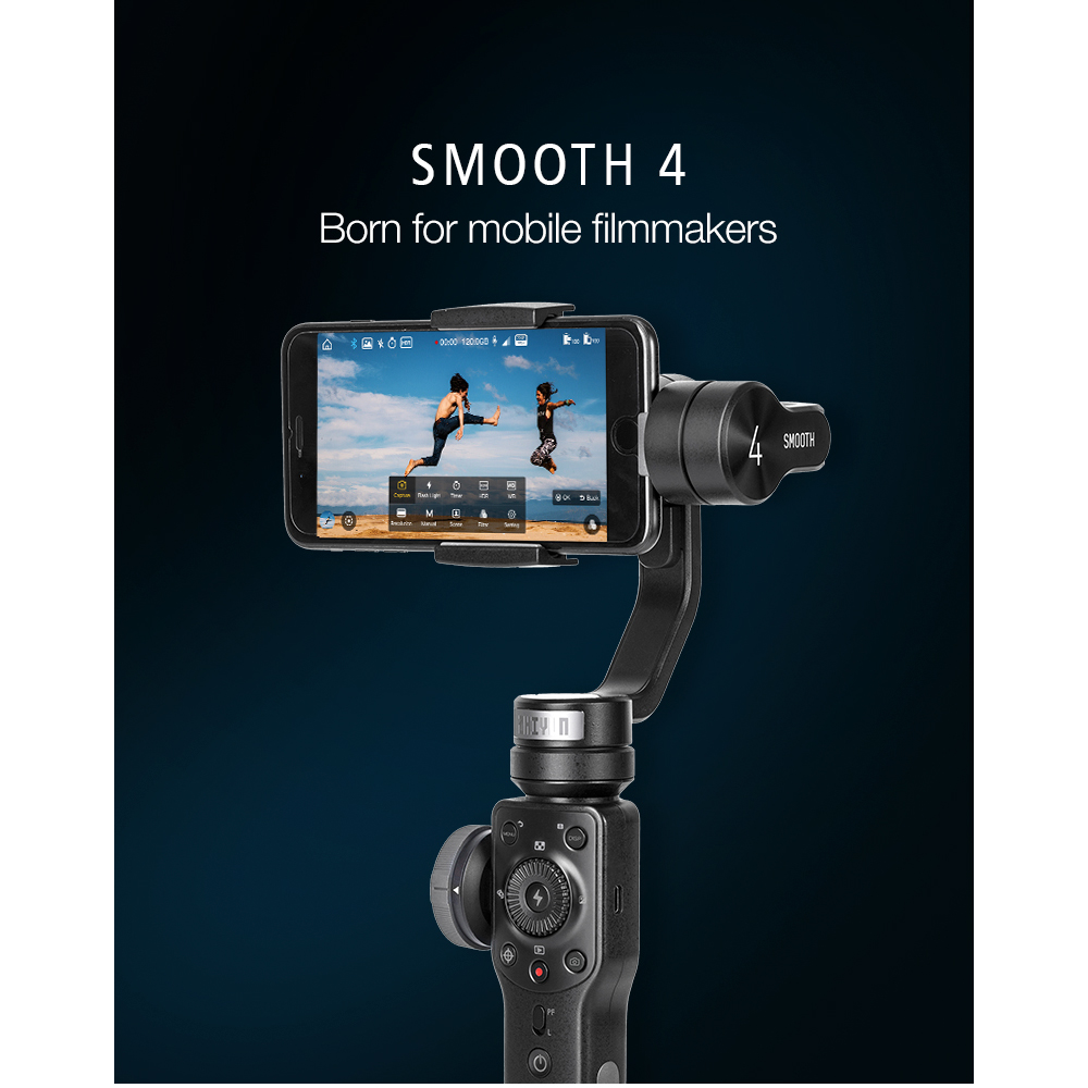 ZHIYUN Official Smooth 4 3-Axis Handheld Smartphone Gimbal Stabilizer VS Smooth Q Model for iPhone X 8Plus 8 7 6S Samsung S9S8S7 1