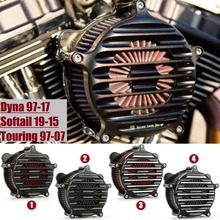 0019abb5097a Edge cut fence air filter kit Nostalgia Venturi Air intakes for harley dyna  FXDF softail FLS