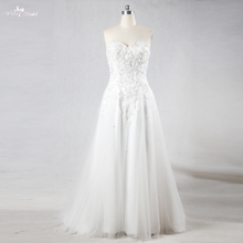 yiaibridal RSW1102 Real Photos Outdoor Beach Wedding Dress