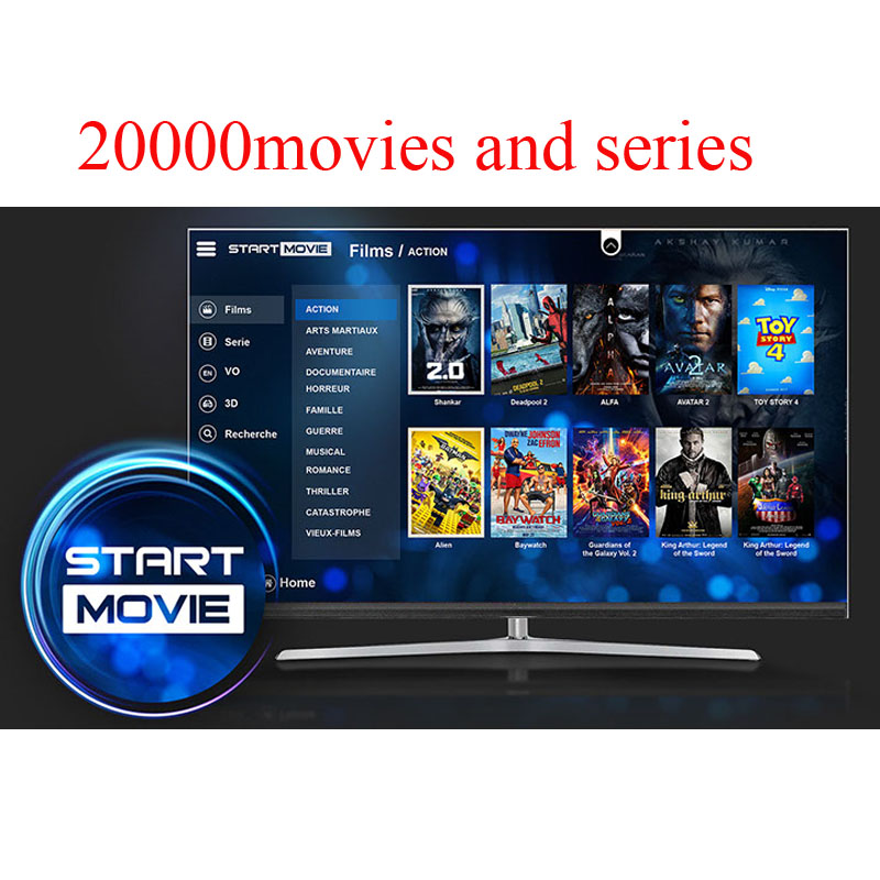 Start IPTV Subscription French Spanish Italian Dutch Arabic 20000 Films