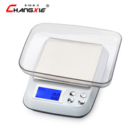 10 piece/packet 1kg/0.1g Precision LCD Electronic Scales Balance Digital Jewelry Scale Household Stainless Steel Kitchen Scale