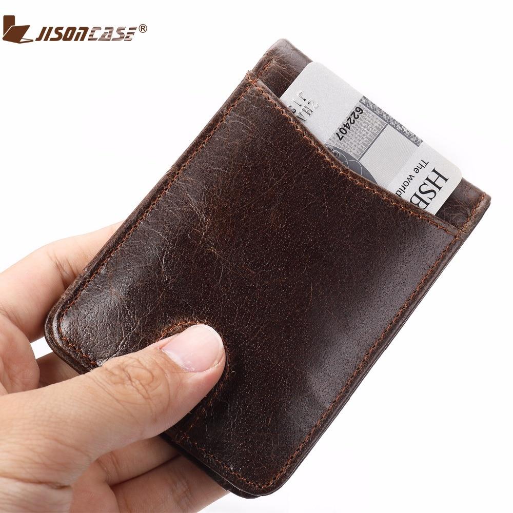 Jisoncase Wallets PU Leather Bifold Money Wallet Quick Access To Card Pocket Vintage Uinsex Minimalist Purse
