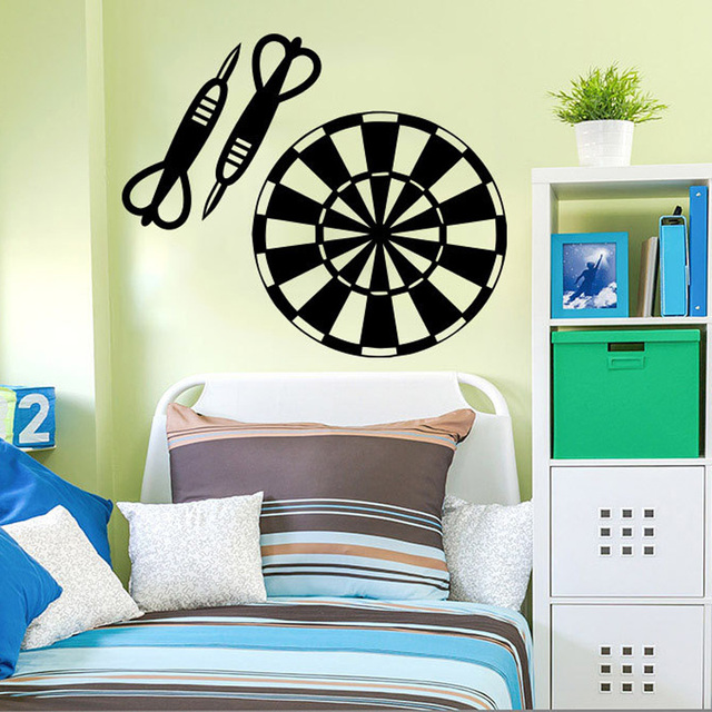 Target Darts Wall Decals Removable Vinyl Home Design Wall Decor Boys  Bedroom Nursery Wall Art Poster
