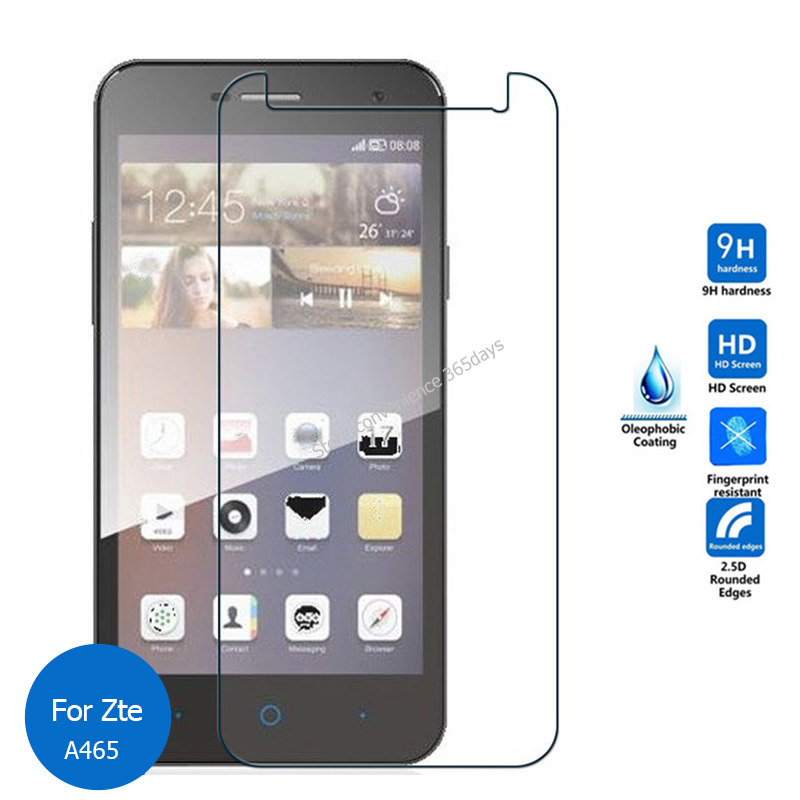 For Zte Blade A465 Tempered Glass Screen Protector 2.5 9h Safety Protective Film on A 465 pelicula de vidro