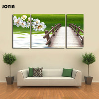 Triptych Canvas Prints Large 3 Panel Spring Natural Green Scenery Wall Pictures Gallery Wrap Print for Home Room Decor No Frame