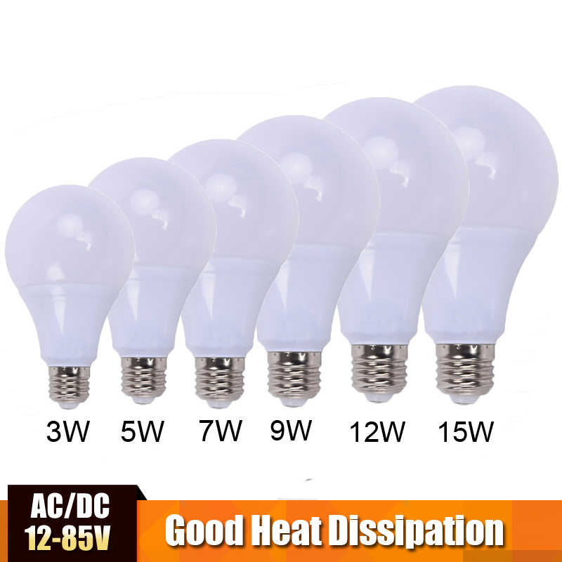 AC/DC LED Bombilla 12v led lámpara led de 24v de la luz de 36v led ampolla bombilla lámpara 50v para locomotora Solar Camping y barco