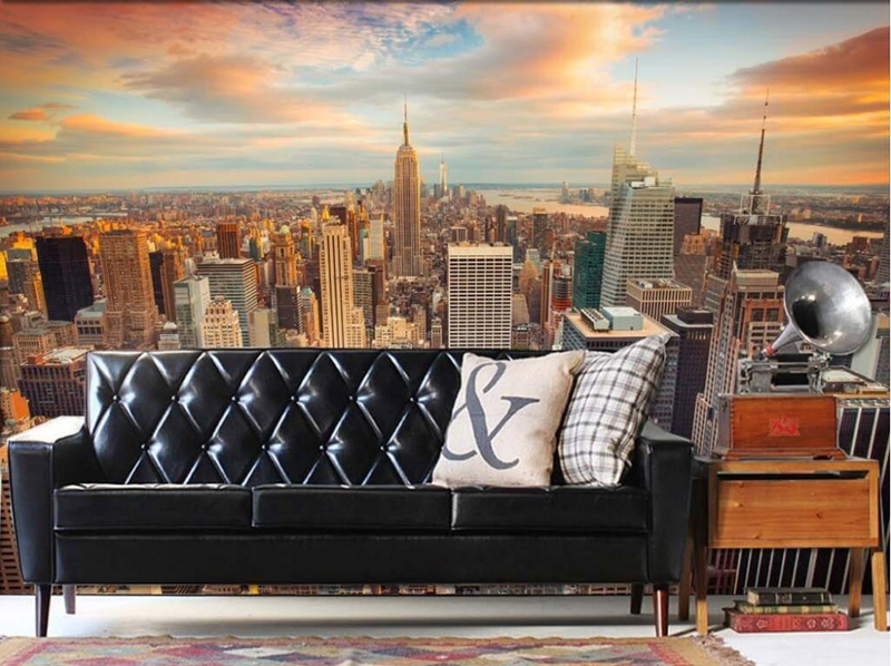 Manhattan 3D Wallpaper New York City Wall Mural Urban Night Photo Wallpaper  Bedroom TV Background Room Decor Bed Paper Parede In Wallpapers From Home  ... Part 63