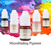 Professional 10pcs 8ml/bottle permanent makeup 3D microblading pigment cosmetic paint color for eyebrow/lip/eyeliner tattoo ink  100 pcs ink permanent makeup pigment 15ml cosmetic 23 color tattoo ink set paint for microblading eyebrow lip body makeup