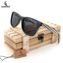 BOBO VOGEL Natürliche Hölzerne Sonnenbrille Männer bambus sonnenbrille Frauen Markendesigner Original Holz Gläser Oculos de sol masculino