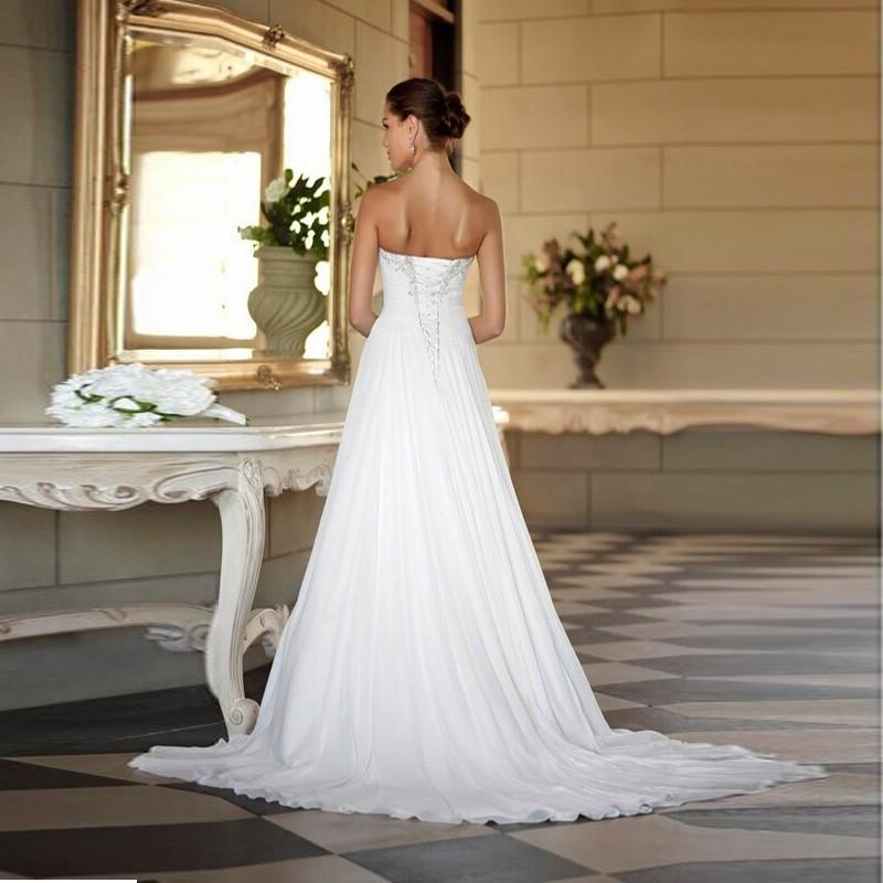 Sweetheart Beaded Neckline Dropped Waist Wedding Dress