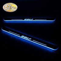 SNCN 4PCS Acrylic Moving LED Welcome Pedal Car Scuff Plate Pedal Door Sill Pathway Light For Volkswagen Golf 7 MK7 2014 2018