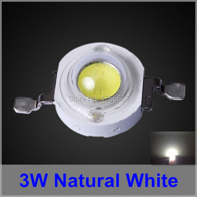 200 Pcs LED Chip Beads 45mil 240 260LM 3W Natural Sun White High Power LEDs for Lamp indoor 4000K 4200K 3W 700ma Emitting Diode