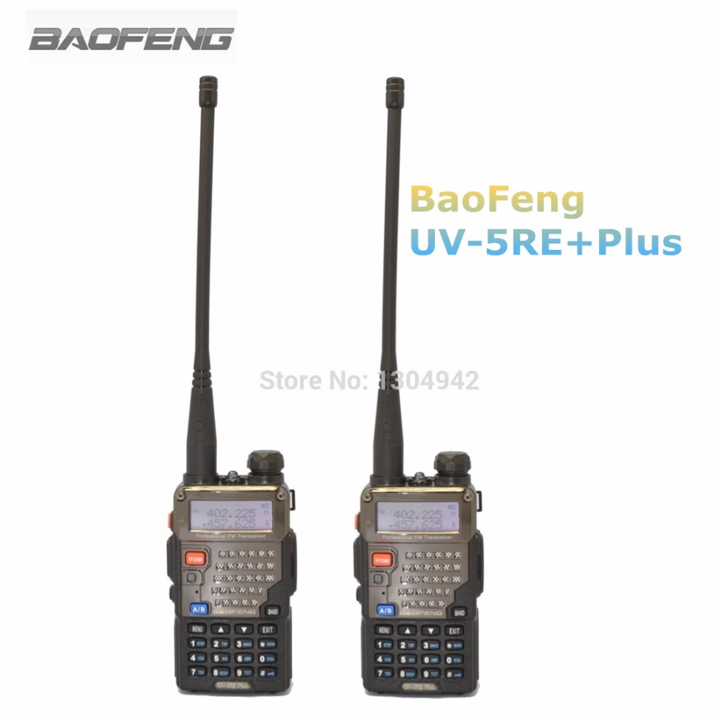 2-PCS BaoFeng UV-5RE Plus Talkie Walkie 128CH Dual Band VHF et UHF Émetteur-Récepteur Radio Bidirectionnelle Portable Interph