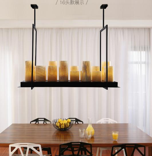 loft Marble Altar Modern LED candle replica Kevin Reilly Pendant light metal fixture candle suspension hanging lighting modern pendant lamp led candle chandelier kevin reilly hemel math ring lighting innovative small and large size milk white glass