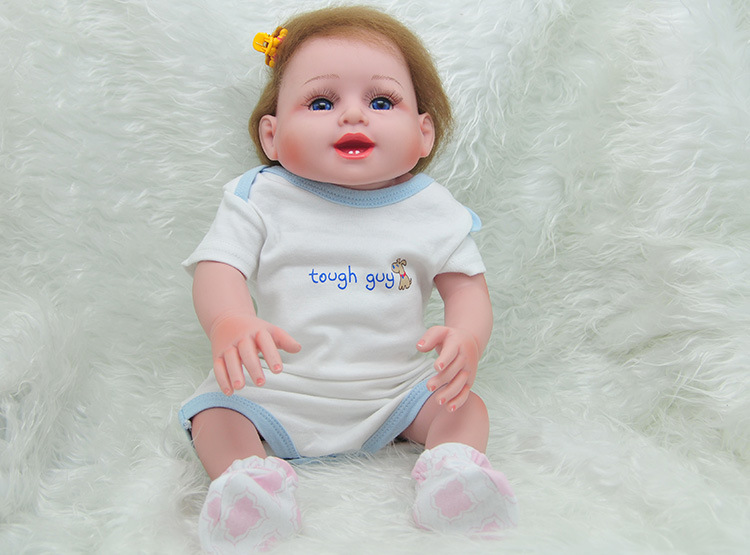 52cm Full Baby Silicone Reborn Dolls Lifelike Simulation Newborn Babe Children Christmas Birthday Gifts Baby Models