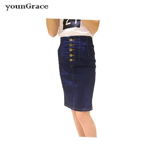 New Teenager Girls Skinny High Waist Bodycon Denim Skirt 2016 Brand Design Girls OL Jeans Skirt with Buckle Girls Skirt, C253