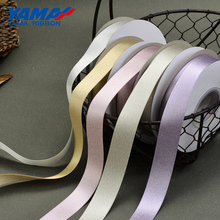 YAMA Silver Purl Satin Ribbon 3mm 1/8 inch 500 Yards/roll for Party Wedding Decoration Handmade Rose Flowers Crafts Gifts