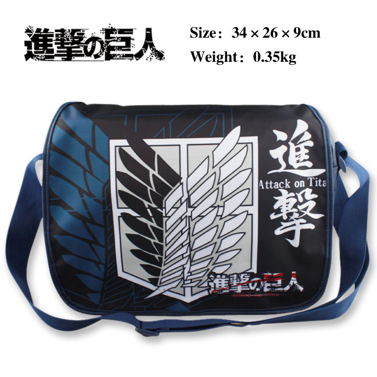 Hot Animation Shoulder Bags Cartoon Anime Attack on Titans Messenger Bag Girt Kids Boy Canvas School Bag Bolsas anime attack on titan mini messenger bag boys ataque on titan school bags mikasa ackerman eren shoulder bags kids crossbody bag