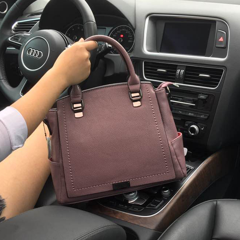 Women Summer New Simple Saffiano Shoulder Bag Pure Color Lady Handbag Big European And American Style Fashion Messenger Bag 2016 summer new handbag small korean handbag simple fashion lock bag simple style solid color hasp pu material zipper saffiano