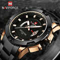 Naviforce zegarki męskie luksusowe pełne stalowe zegarki wojskowe męski kwarcowy zegar godzinowy mężczyzna zegarek sportowy zegarek na rękę Relogio