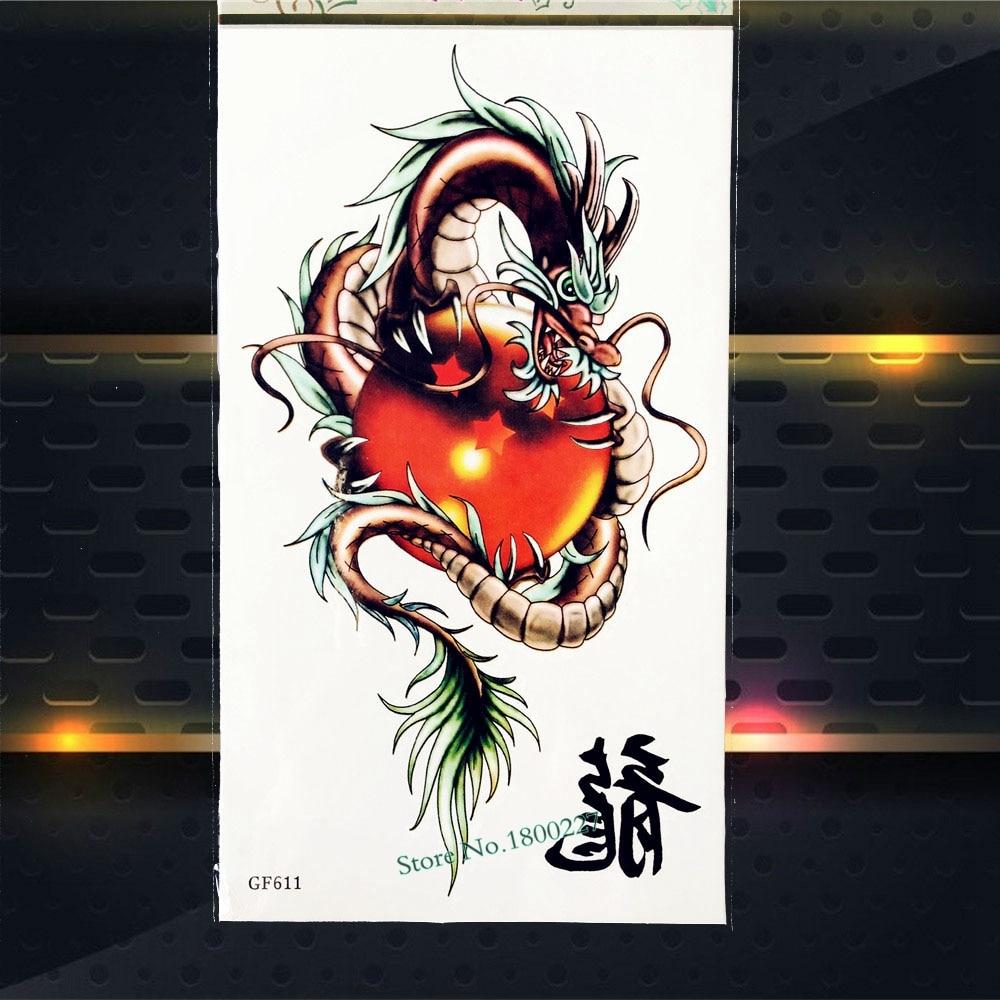 Us 079 Najwyższej Jakości Dragon Ball Wodoodporny Tymczasowy Tatuaż Naklejki Dla Dzieci Body Art Arm Tatuaż Wklej Pgf611 3d Diy Tatuaż Naklejka Na