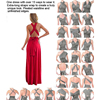 Sexy Women Multiway Wrap Convertible Boho Maxi Club Red Dress Bandage Long Dress Party Bridesmaids Infinity Robe Longue Femme 6