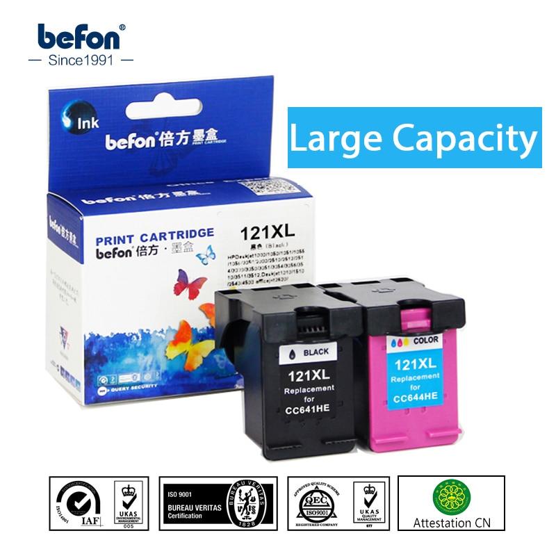 Befon Re-fabricado 121XL reemplazo de cartucho para HP121 cartucho de tinta HP 121 XL para Deskjet D2563 F4283 F2423 F2483 f2493