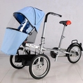 Baby trolley can be ridden and portable folding outdoor landscape travel shopping children children bicycle