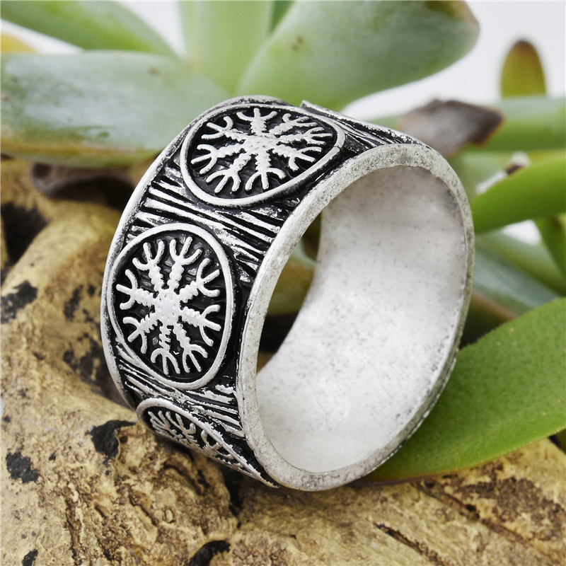 1Pc Viking Ring Adjustable Dragon Alloy Rings Jewelry Accessories for Men