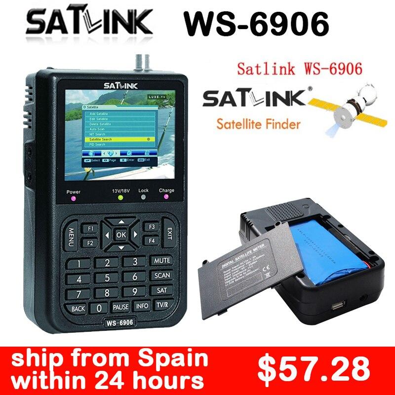 Satlink DVB-S Satellite Finder lnb DVB S Digital Satellite Finder Meter 3.5 inch LCD Display Spain Satlink FTA Satelite Finder satlink ws 6979se dvb s2 dvb t2 mpeg4 hd combo spectrum satellite meter finder satlink ws6979se meter pk ws 6979
