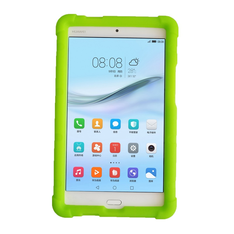 MingShore Heavy Duty Silicone Case For Huawei M3 Lite 8.0 CPN-AL00 Rugged Soft Cover For Huawei MediaPad M3 Lite 8.0 W09 Tablet coque smart cover colorful painting pu leather stand case for huawei mediapad m3 lite 8 8 0 inch cpn w09 cpn al00 tablet