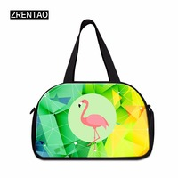 Flamingo Canvas Men Travel Bags Carry on Luggage Bags Adults Duffel Bags Travel Duffle Tote Size S/M Weekend Beach Bag Overnight