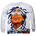 Rap star Wiz Khalifa 3D print sweatshirt Unisex hoodie hip hop tracksuit harajuku crewneck casual Sweatshirt free shipping
