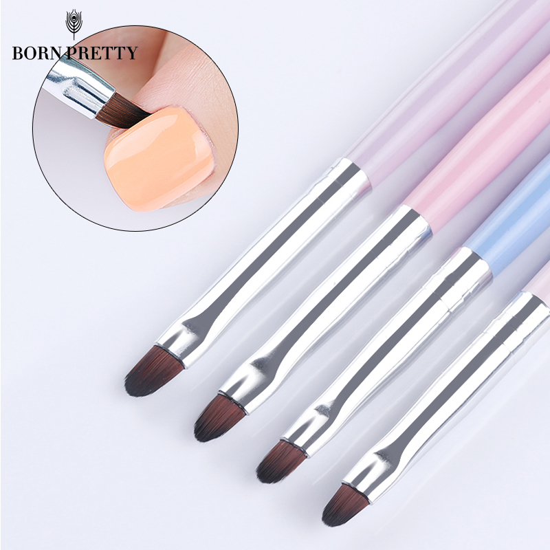 BORN PRETTY Nail Cleaning Brush UV Gel Powder Dust Cuticle Clean Pink Blue Handle Round Pen Manicure Nail Art Tool цена