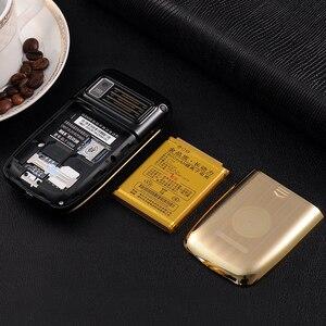 Image 3 - Blt v998 flip tela dupla dupla dois tela de vibração do telefone móvel tela sensível ao toque sim duplo voz mágica telefone celular p077
