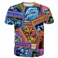 클래식 애니메이션 결투 몬스터 t 셔츠 하라주쿠 티 셔츠 남성 여성 소식통 3D t 셔츠 DM 유희왕 몬스터 티 탑 크기 S-5XL