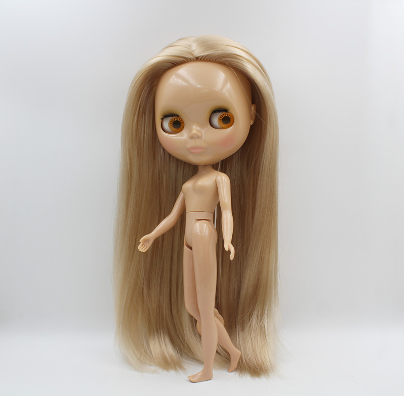 Free Shipping BJD joint RBL 512 DIY Nude Blyth doll birthday gift for girl 4 colour big eye dolls with beautiful Hair cute toy Dolls     - title=