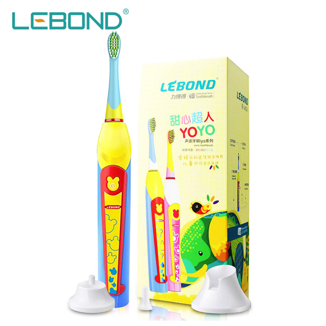 LEBOND LBYOT 2016 New Sonic Electric Toothbrush for Children Kids Oral Hygiene Care With 2 Mins Timing System Funny Color Bule