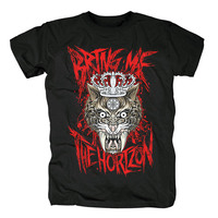 Bloodhoof Free shipping AUTHENTIC BRING ME THE HORIZON BMTH STACKED ROCK BAND SHIRT Asian Size