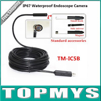 2016 Hotselling 6LED 5 5MM Dia USB Endoscope Camera IC5B Support Windows PC And Android Phone