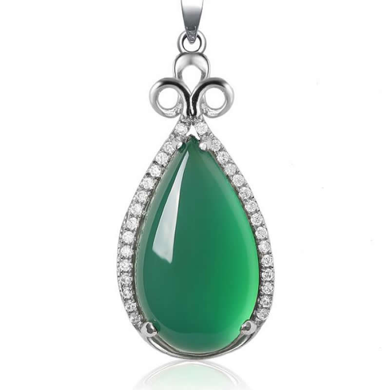 natural water drop green  pendant fashion cute   pendants