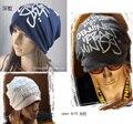 2014 envío gratis nuevo invierno Unisex chic B boy B chica Hiphop BEANIE slouchy sombrero negro Cap hombres mujeres sombrero