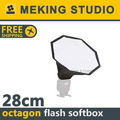 speedlight/speedlite/hot-shoe flash mini octagon softbox 28cm / 11.02in